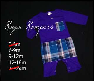 Sale Baby raya Rompers purple