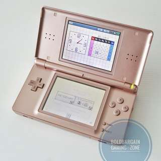 Authentic Nintendo DS Lite Metallic Rose Gold Game Console Brand New Battery Original Charger