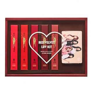 Etude house matte chic lip lacquer x red velvet