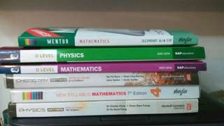 O Level practice books and textbooks