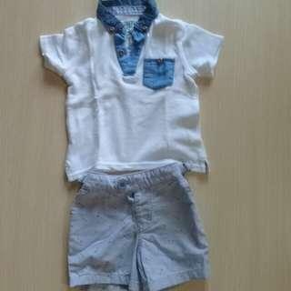 Gingersnaps polo shirt & shorts