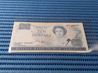 New Zealand $10 Ten Dollars Note NSZ 190935 Dollar Banknote Currency