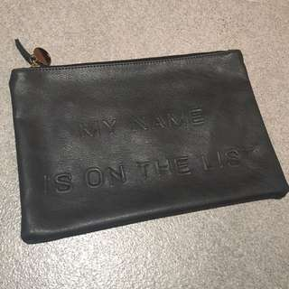 Faux leather flat Pouch
