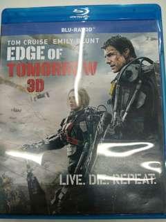 Edge of tomorrow blu ray 3D movie