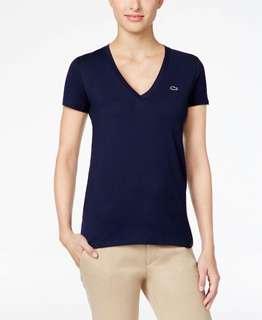 lacoste vneck for women