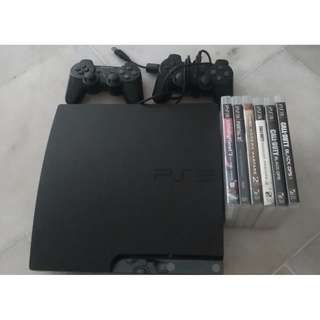 Upgraded PS3 Slim 500gb Seagate, 2 controllers + games