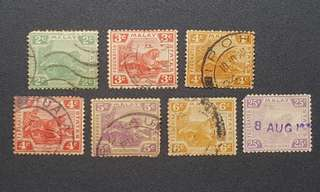 Malaya tiger stamps