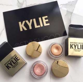 AUTHENTIC Kylie Birthday Edition Copper Creme Eyeshadow Holiday Edition Yellow Gold Creme Eyeshadow