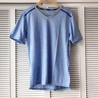Nike Men's Powder Blue and Grey Shirt