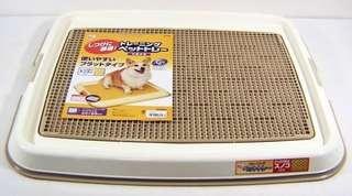 日本IRIS防抓式平面狗便盆(柴犬可使用大小)