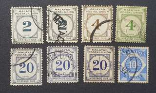 Malaya postage due  stamps