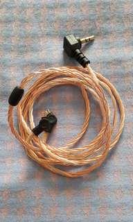 ALO iem upgrade copper cable