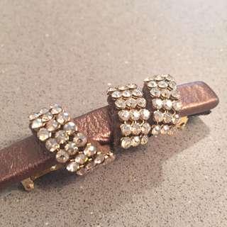 ❤️Alexander de Paris crystal hair clip