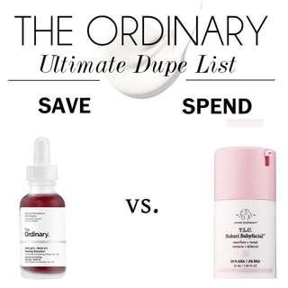 🚚 $13.90 The Ordinary AHA 30% + BHA 2% Peeling Solution vs. Drunk Elephant T.L.C Sukari Babyfacial