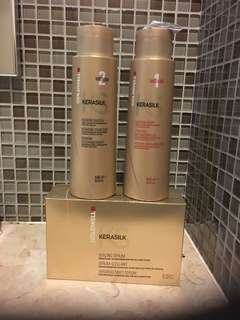 Goldwell KERASILK Medium 1&2  @500ml plus SEALING SERUM