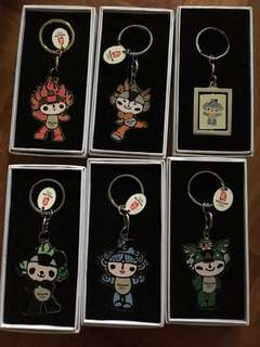 Authentic Beijing 2008 olympics keyrings
