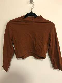 Glassons crop long sleeves top size s