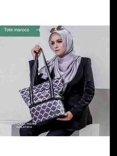 NATURAL MOMS Cooler Bag Tote - Maroco