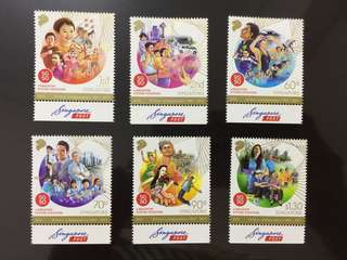 SG50 complete set of assorted stamps