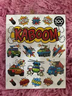 300 Mini Stickers <KABOOM>
