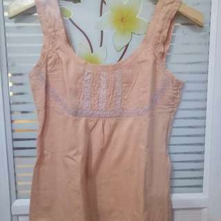 Preloved peach tanktop