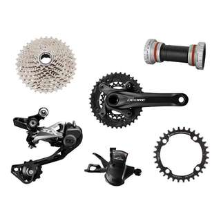 Shimano XT/ SLX/ Wolftooth 1 x10 Speed Full Drivetrain - 2nd Hand Pre Owned
