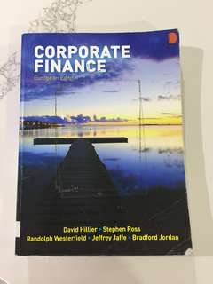 Corporate Finance (European Edition): Hillier, Ross, Westerfield et. al.