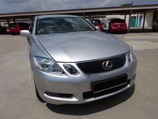 Silver Lexus GS300 for Weekend Lease