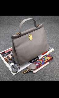 🚚 Dark grey handbag
