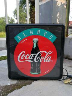 Vintage Coca Cola Fibre-Optic Lightbox