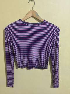 Stripes Top Long sleeve   color: blue red white stripes