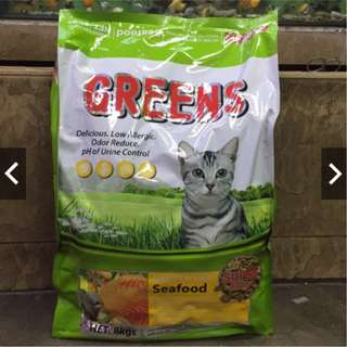 Greens Cat food chicken and seafood 8kg