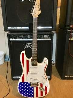 Dars America Flag Stratocaster Guitar