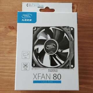 全新 Deep Cool XFAN 80 8cm PC Case Fan 80mm 電腦 機箱 散熱扇 風扇 大4-Pin 連 螺絲