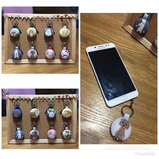 Keychains cum earphone jacks