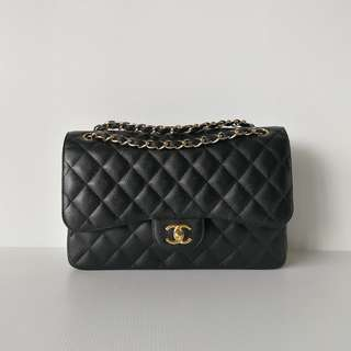 Authentic Chanel Classic Jumbo Flap Bag