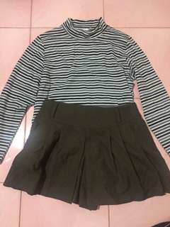 2 FOR 150 TURTLE NECK TOP & SKORT