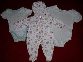 Baby bodysuits set of 3
