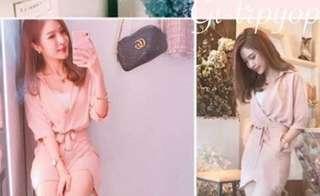 🚚 全新現貨代購💲 690今天訂明天出❤️    #韓妞最愛高品質正韓不規則綁帶洋裝