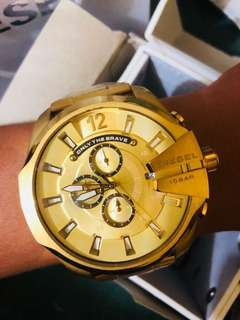 Authentic Gold toned chronograph watch UPDATED PRICE