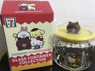 Sanrio line friends 3d Brown container
