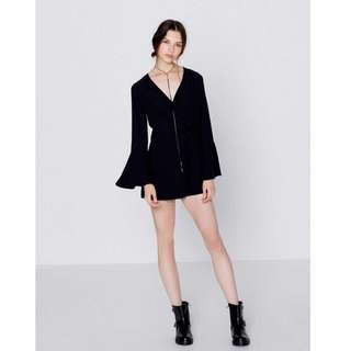 pull & bear bell sleeve playsuit