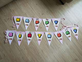 Tsum tsum party banners