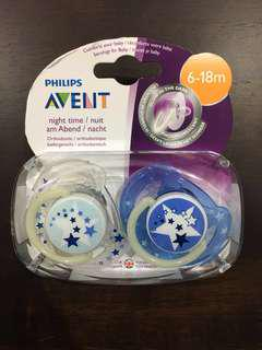 Philips Avent Glow in the Dark Night Time Soother 6-18m