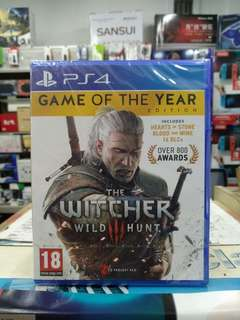 🆕 PS4 The Witcher 3 : Wild Hunt Game Of The Year Edition