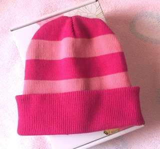 Cute Pink Reversible Knitted Kid's Beanie