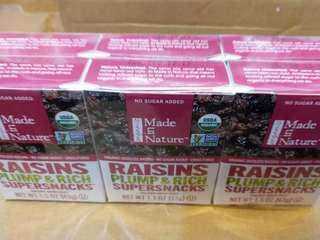 Made in Nature 有機提子乾6盒庄
