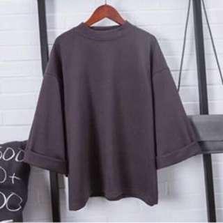 Korean Blouse Gray