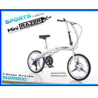 PROMO-Free Delivery -Full suspension,Brand new Foldable Bicycle with Disk brakes & Shimano gear etc