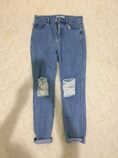 Forever 21 Boyfriend ripped jeans